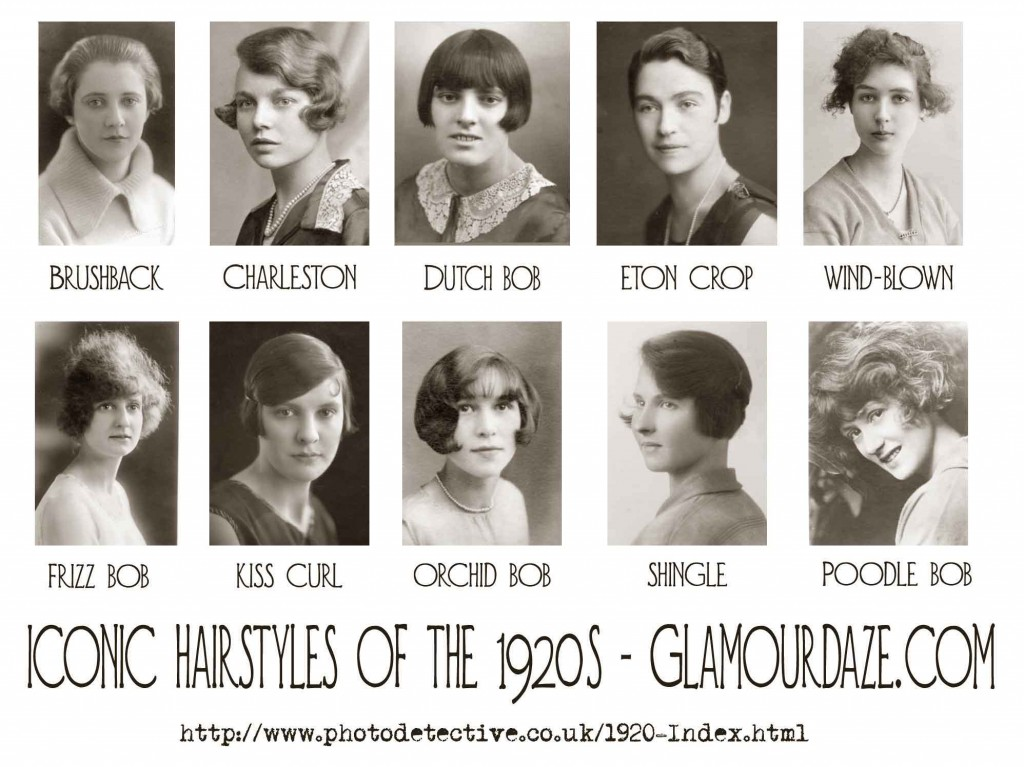 1920's bob crop and finger wave hairstyles