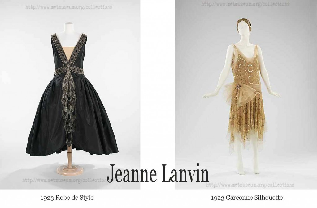 1920s fashion-1920s Robe-de-Style and Garconne style - Jeanne Lanvin