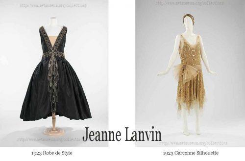 1920s fashion-1920s Robe-de-Style and Garconne style - Jeanne Lanvin