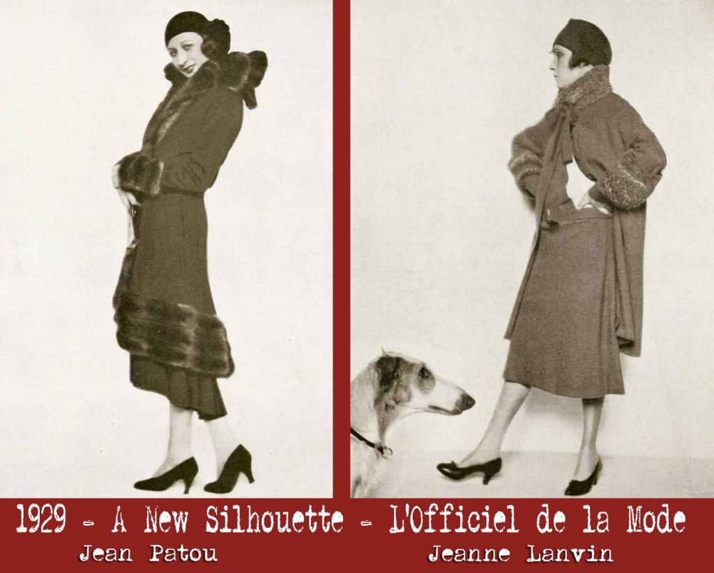 1920s fashion --a-brand-new-silhouette in 1929