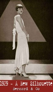 1920s fashion - a-brand-new-silhouette in 1929