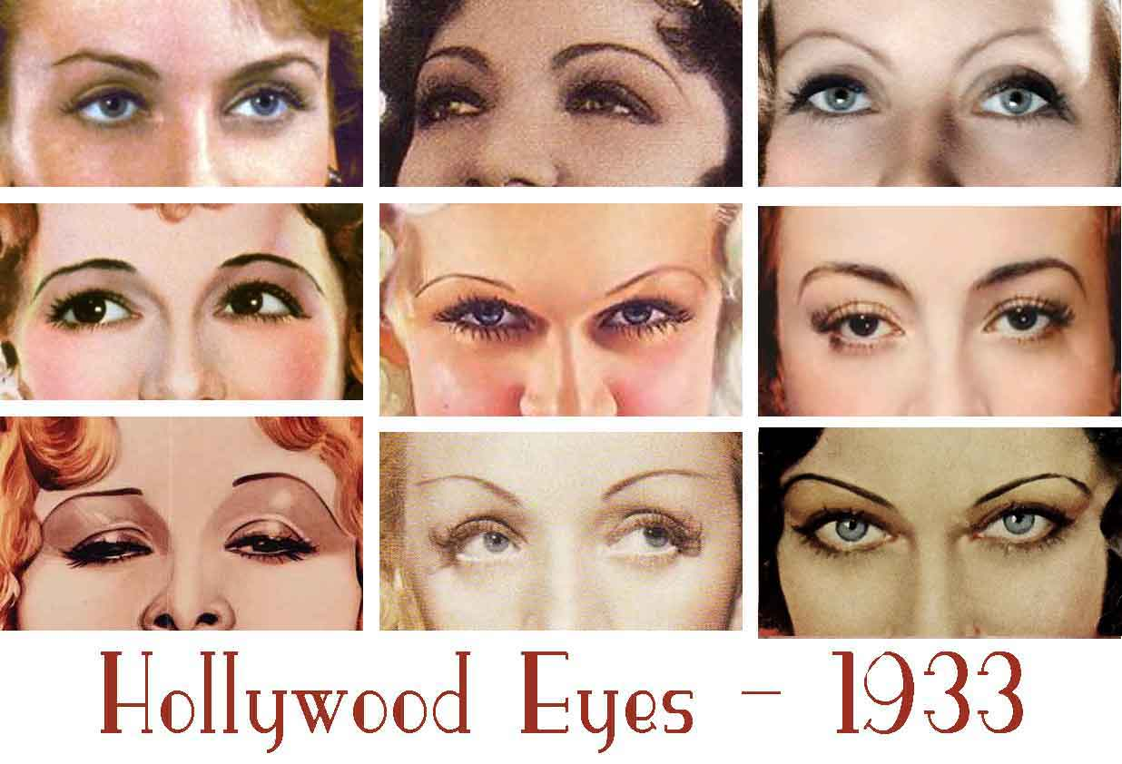 1930s Beauty And Style Hollywood Eyes Glamourdaze