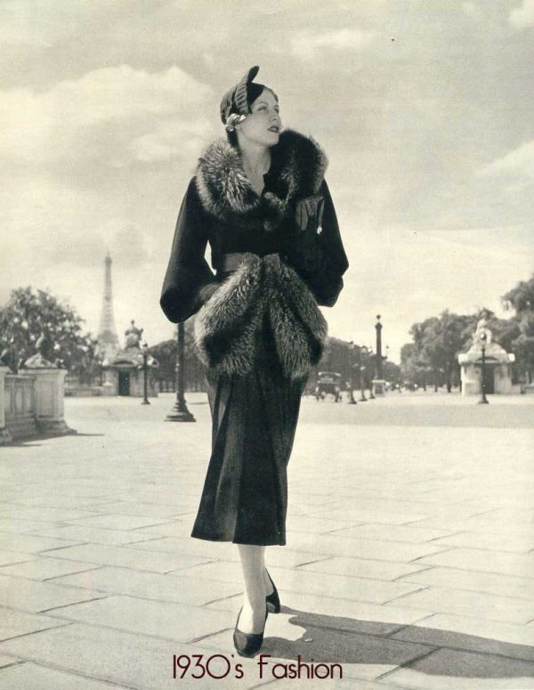 1920s fashion - skirts drop to the ankle