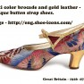 8--1920s-dress-shoes-Multi-color-brocade-and-gold-leather-applique-button-strap-shoes.