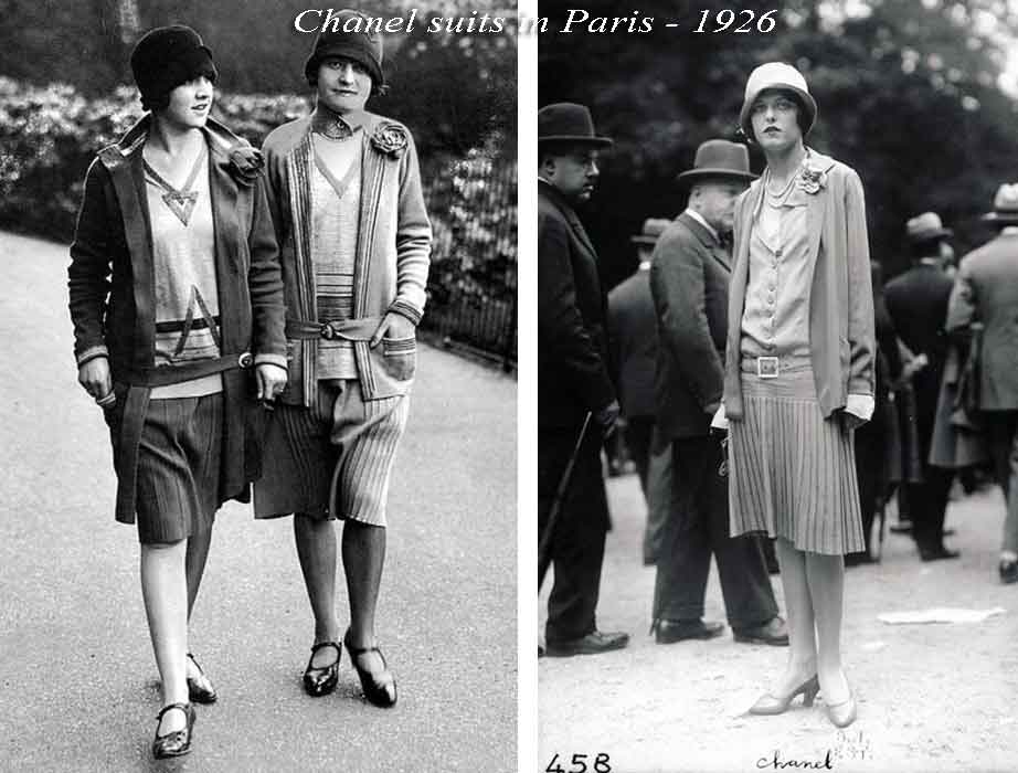 1920s fashion - Coco-Chanel-suits---Paris-1926