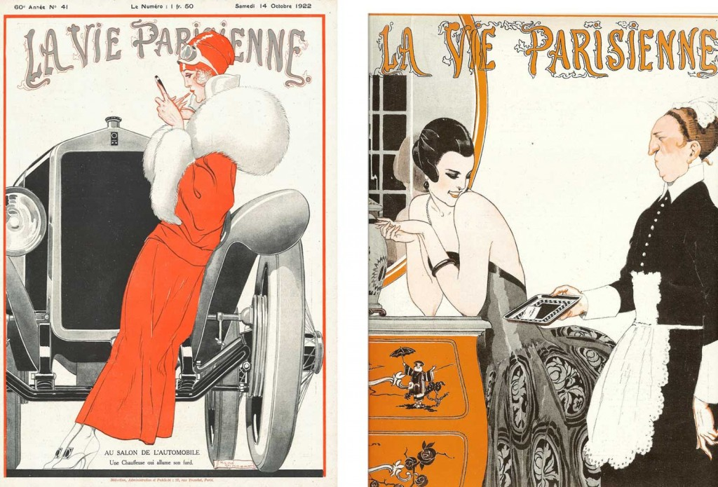 1920s fashion - La-Vie-Parisienne---flapper-illustrations