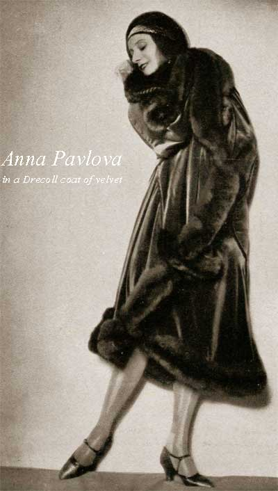 L'officiel-de-la-mode---Anna-Pavlova-in-a-Drecoll-coat