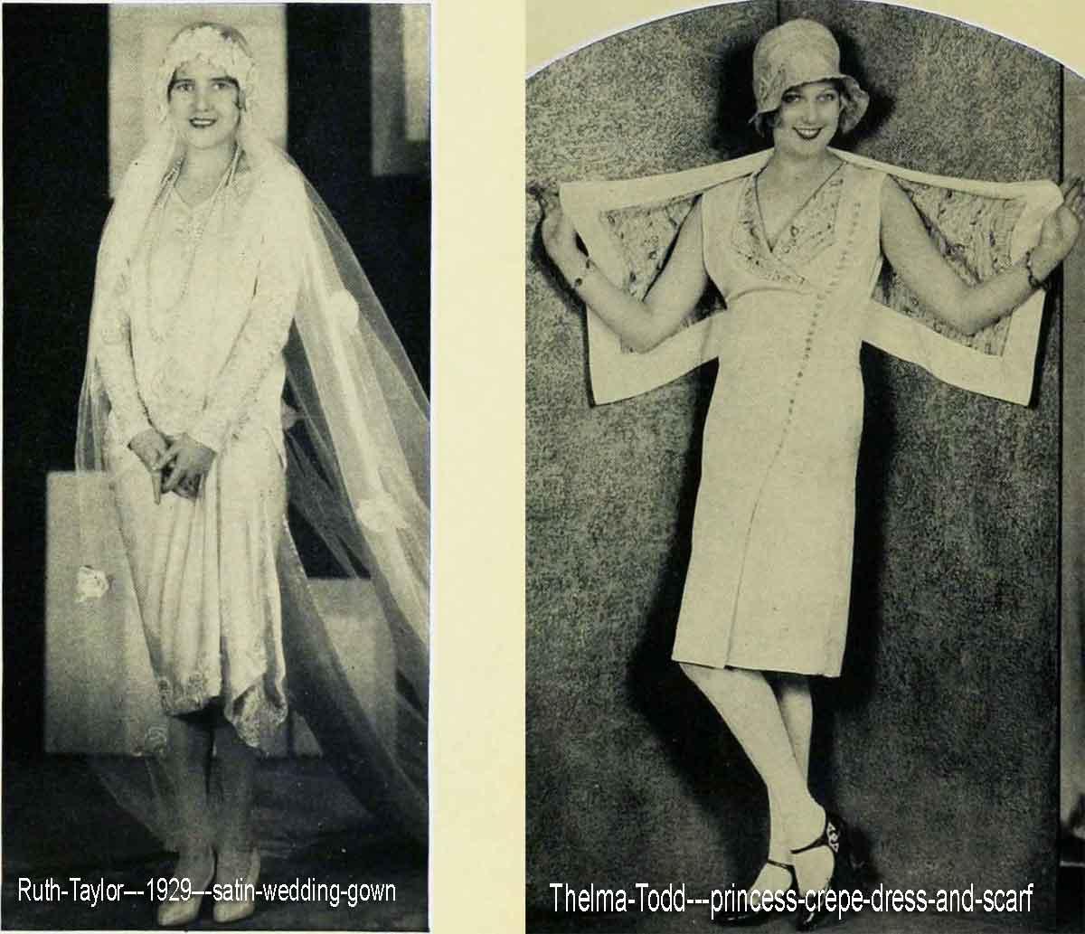 1920s Fashion - Hollywood Summer Dresses 1929 | Glamour Daze