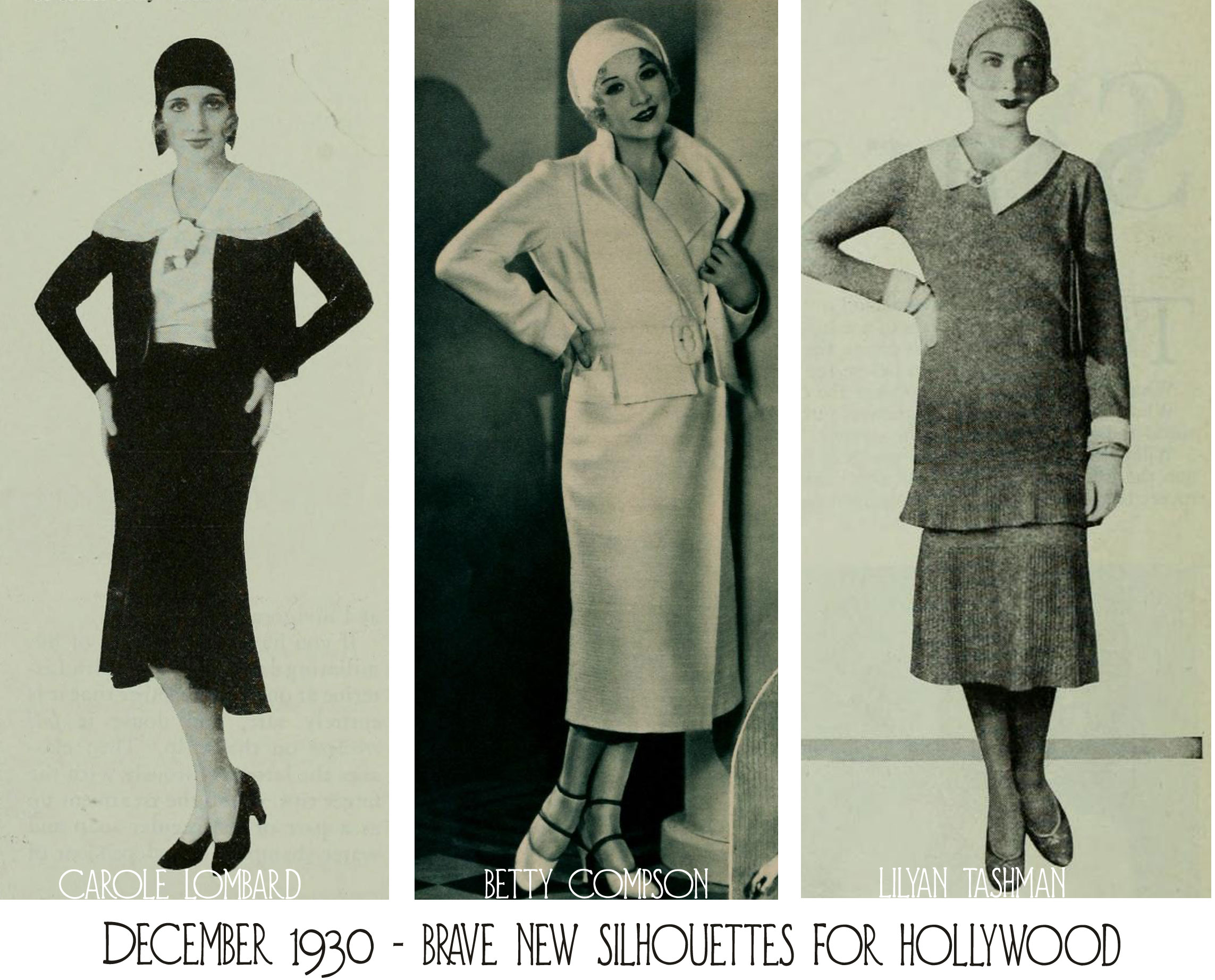 1930s Fashion Hollywood Bids Farewell To The Short Skirt