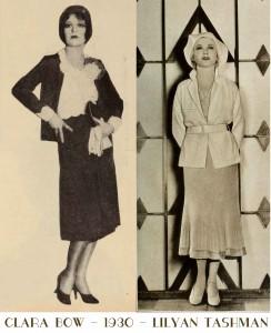 clara-bow-and-lilyan-tashman--The-new-1930s-silhouette---lower-skirt-hems
