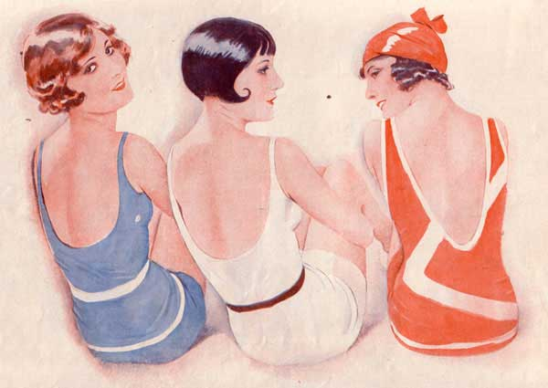 1920s flapper-swimmers