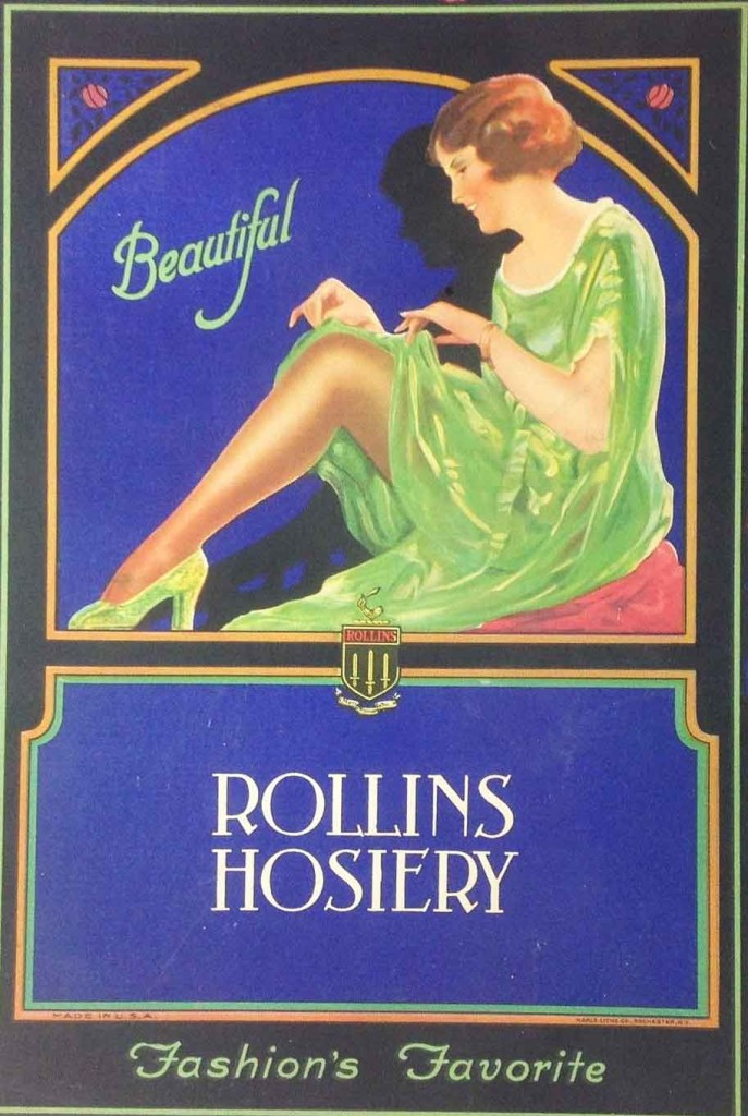 1920s fashion - stockings for flappers by Rollins