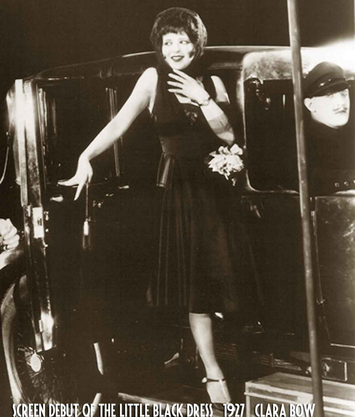 1920s fashion - screen-debut-of-the-little-black-dress-1927-clara-bow