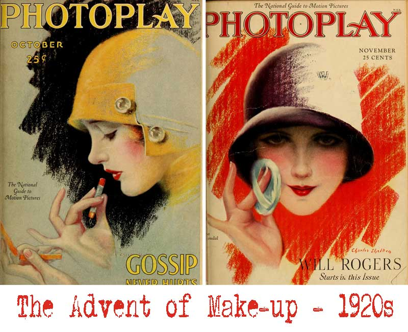 1920s fashion - the popularity of makeup in the 20s