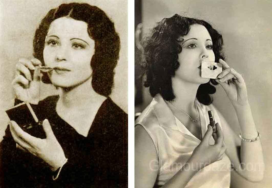 1930-Beauty-Shop---Rouging-the-Lips---Raquel-Torres