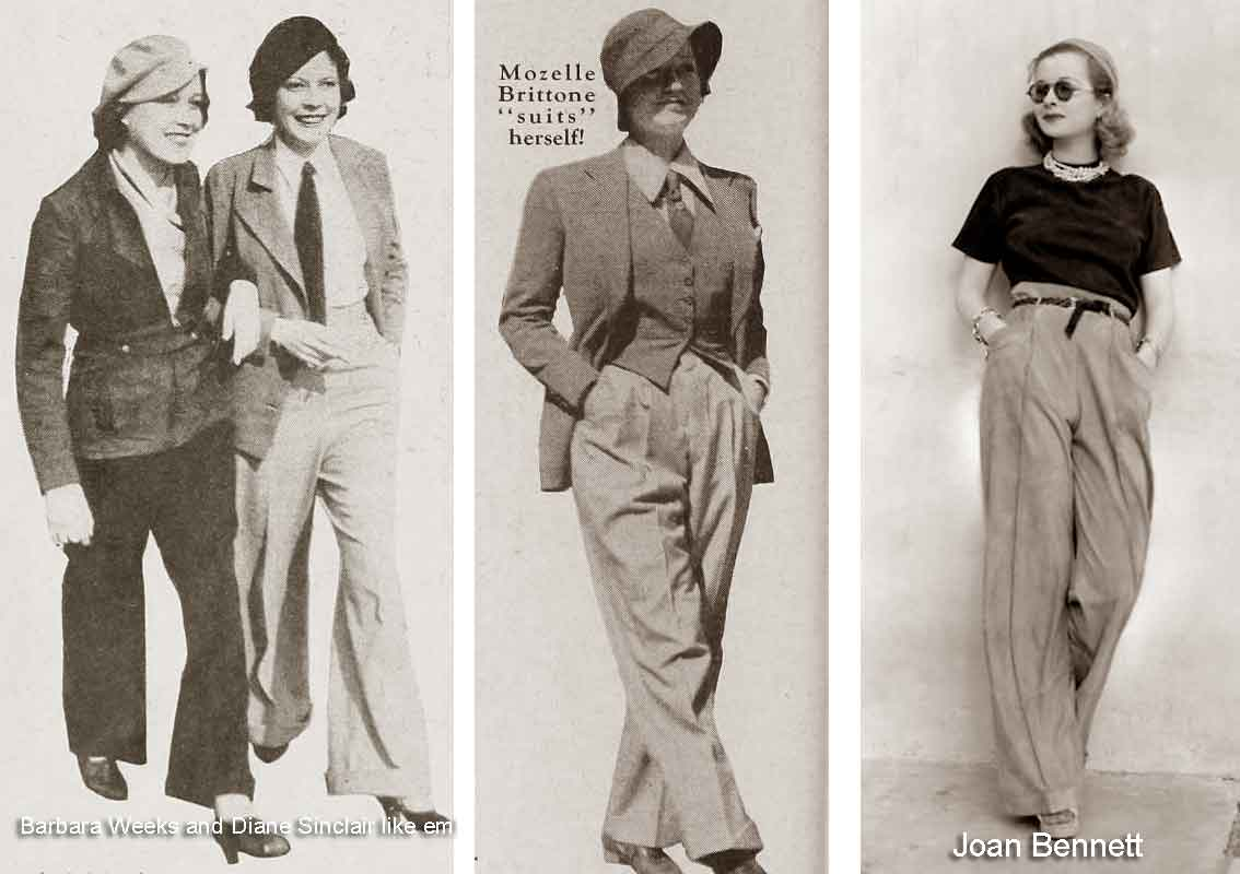 1930s Fashion The Year Of Wearing Trousers 1932 Glamour Daze