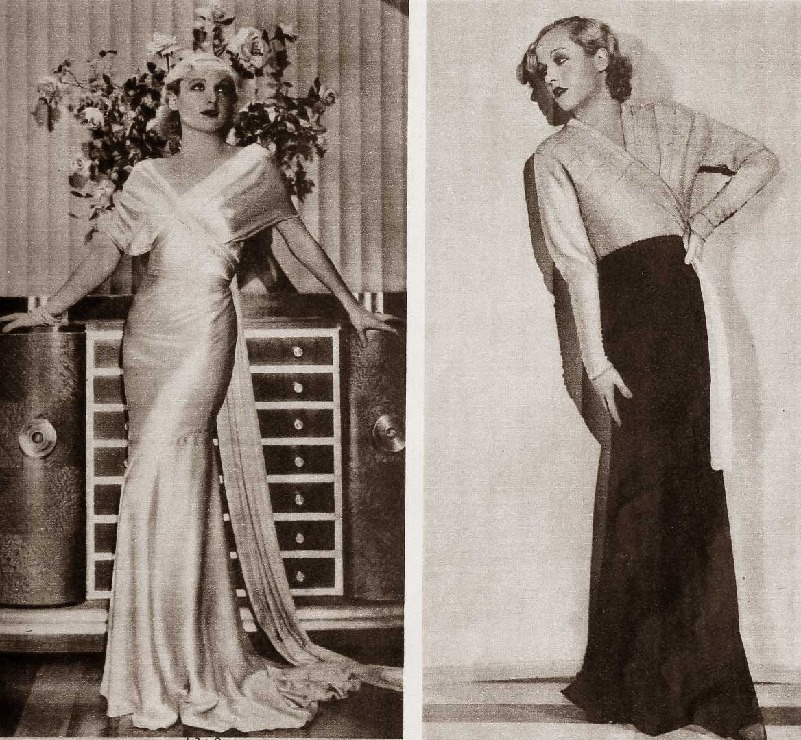 1930s Fashion - Carole Lombards Wardrobe in June 1932 | Glamour Daze