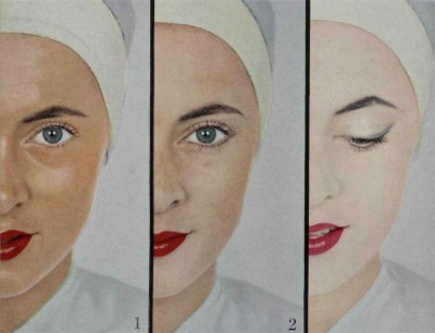3-Summer-Faces---French-Makeup-Styles-for-1954