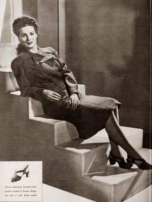 1940s Fall Fashions Maureen O Hara 1943 Glamour Daze