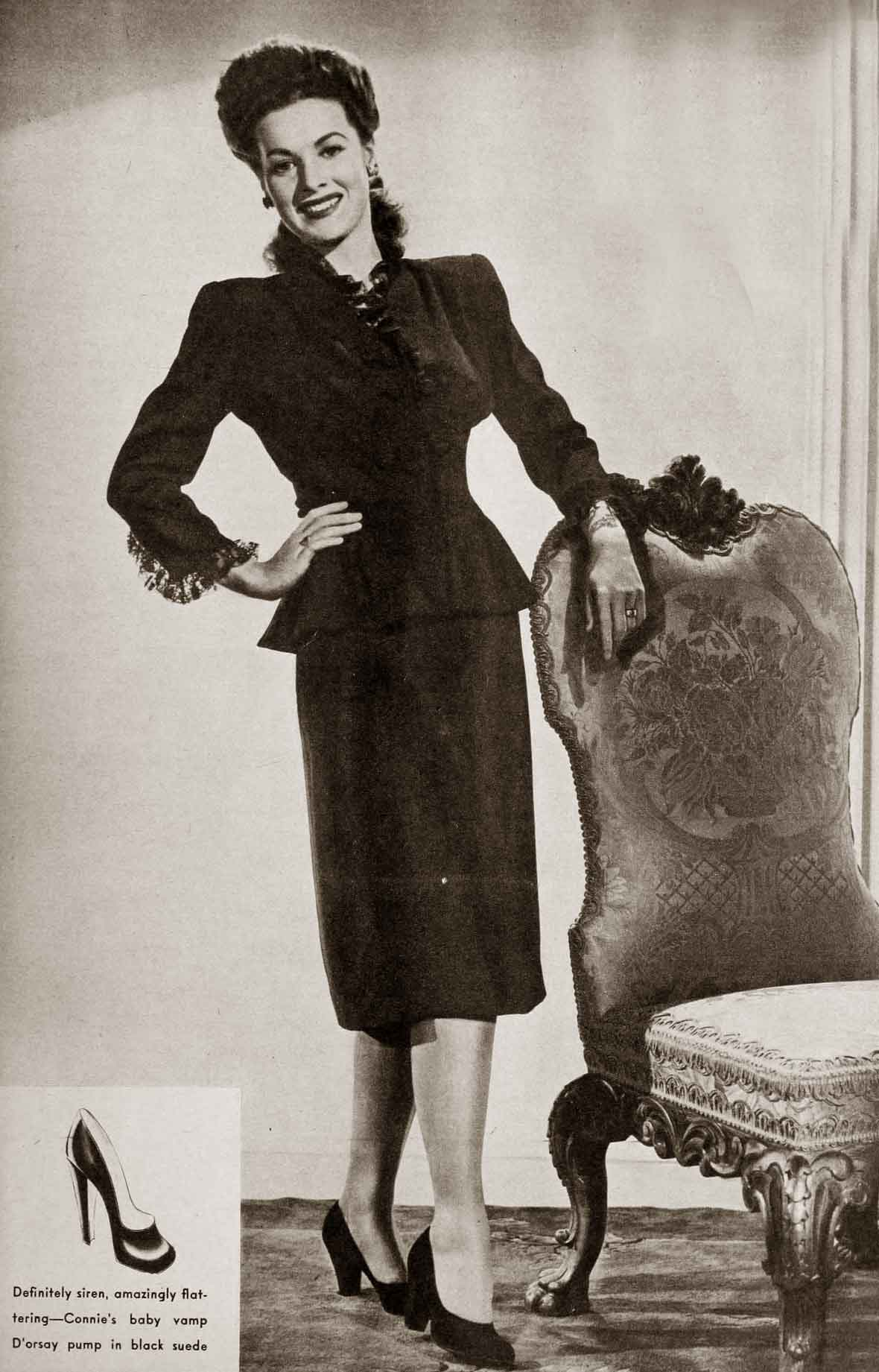 1940s Fashion: 1940s Fall Fashions – Maureen O Hara 1943
