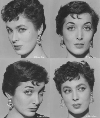 1950 French doe-eyed makeup look