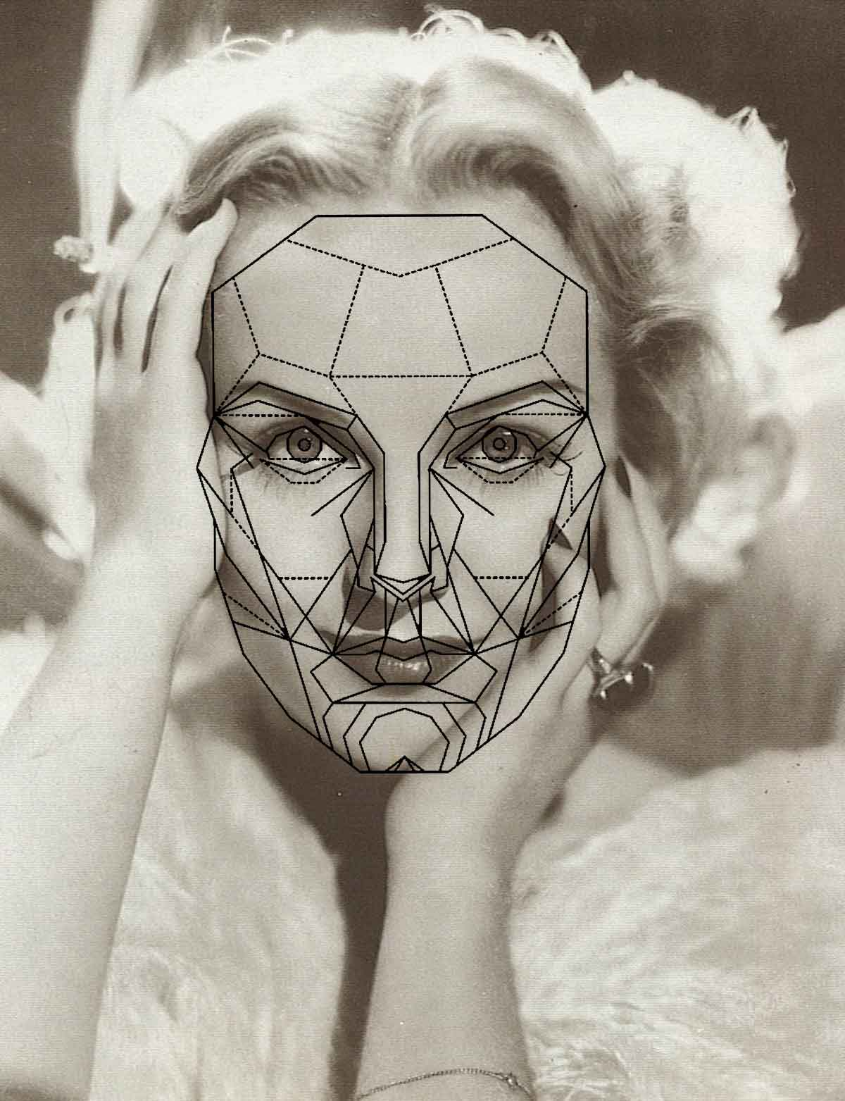 Grace kelly face with the golden ratio of beauty glamourdaze carole lombard hollywoods most beautiful face ccuart Image collections