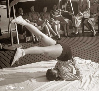 1951-Model-Secretary-look--Callisthenics