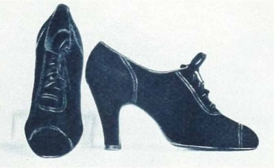 4-1930s-fashion---Ginger-Rogers-Favourite-Shoes-in-1936---black-suede-oxfords