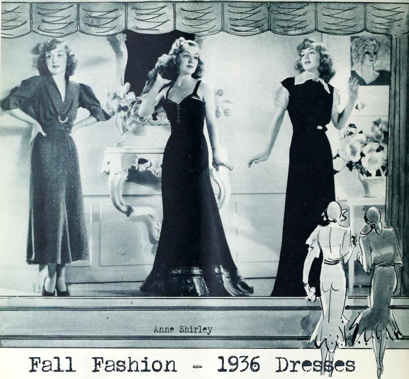 1930s Autumn Fashion  Window Shopping in 1936 Glamourdaze - 1940S Hairstyles