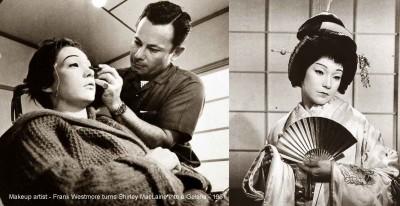 Makeup-artist---Frank-Westmore-turns-Shirley-MacLaine-into-a-Geisha---1961