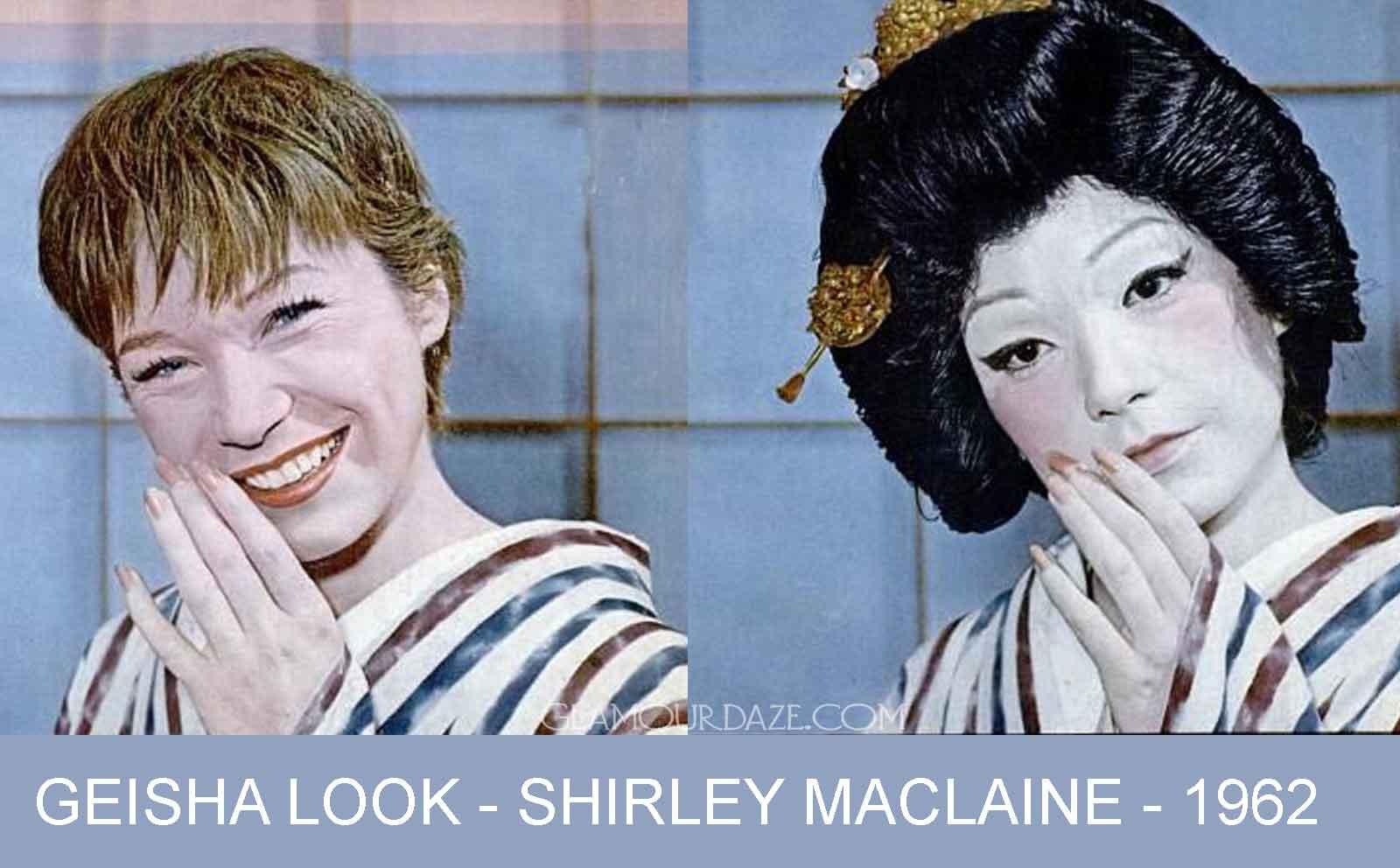 shirley maclaine transforms into a geisha – 1961 | glamourdaze