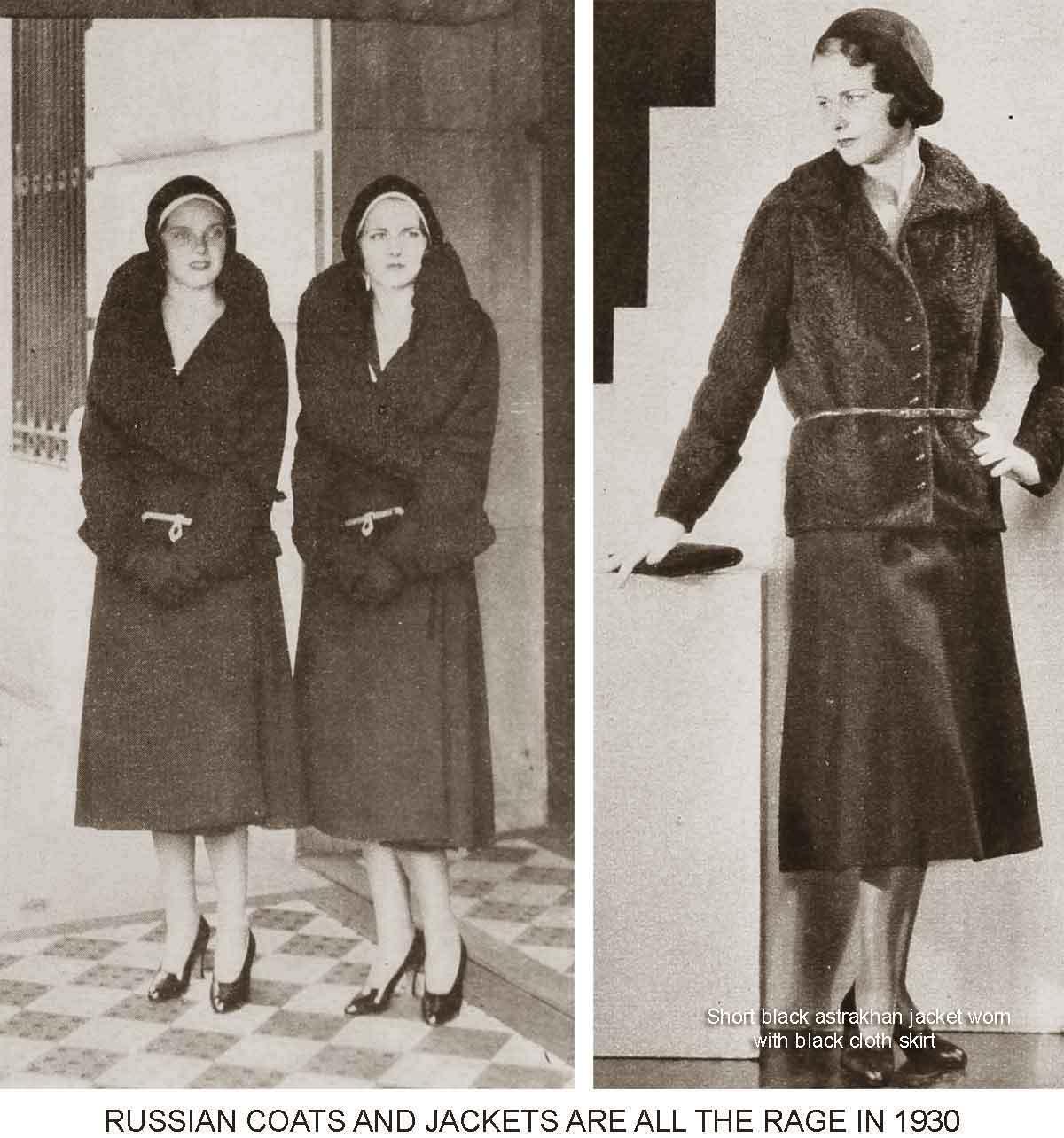 1930 Fashion Winter Styles Turn Russian Glamour Daze