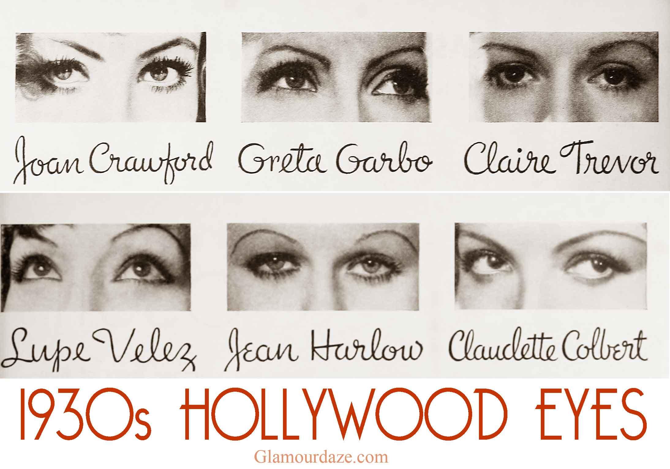 10s Hollywood Eyes! - Makeup Tips.  Glamour Daze