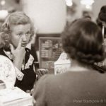 1940s Beauty – Priscilla Lane sells cosmetics for a day.