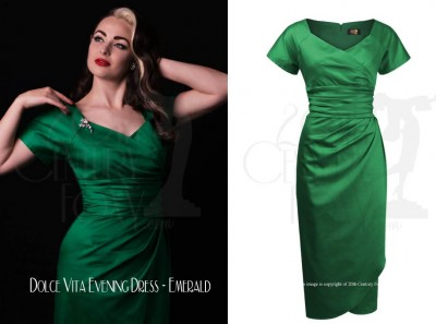 20TH-CENTURY-FOXY-XMAS-PARTYWEAR---Dolce-Vita-Evening-Dress---Emerald