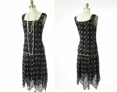 Black-Beaded-Floral-Lace-Drop-Waist-Gabrielle-Flapper-Dress