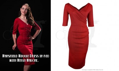 Mansfield-wiggle-dress-in-red---with-Missy-Malone.