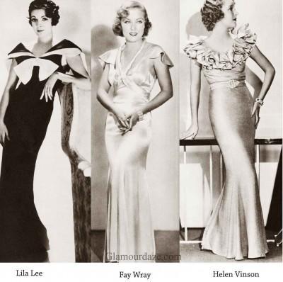 1930s-Fashion---Hollywood--Evening-dress---1934