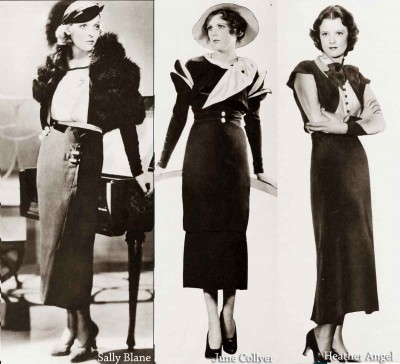 Vintage-1930s-Fashion---Hollywood-Winter-Frocks---1934