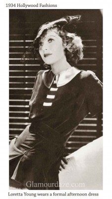 Vintage-1930s-Fashion---Hollywood-Winter-Frocks---1934---Loretta-Young