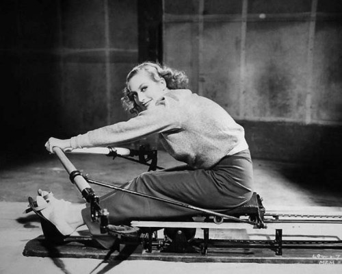 Joan Crawford excersising - 1930s fitness regime
