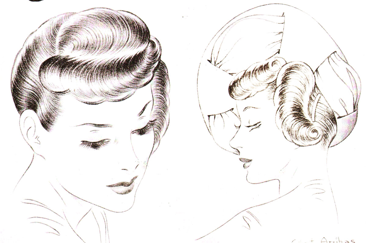 1940s Hairstyles - The Sidesweep Craze Of 1945