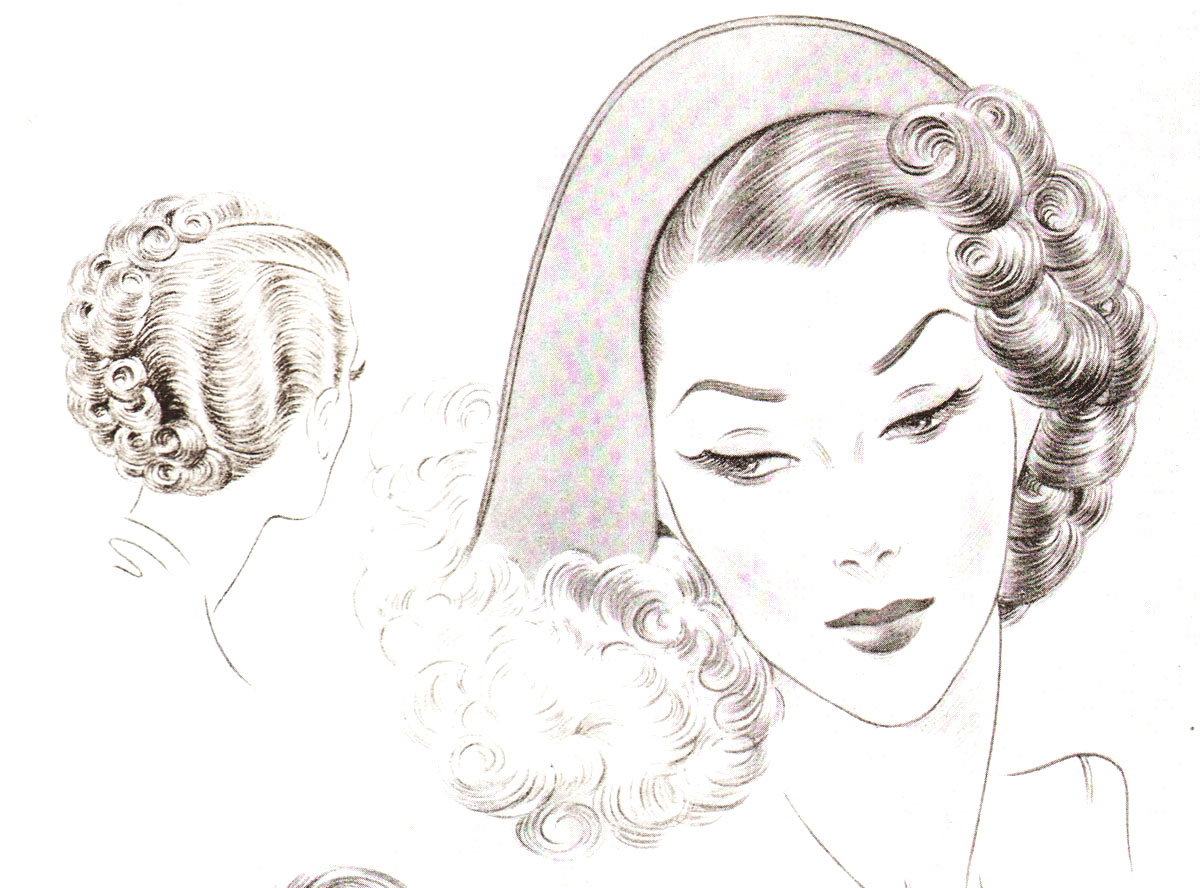 1940s Hairstyles The Sidesweep Craze Of 1945 Glamour Daze