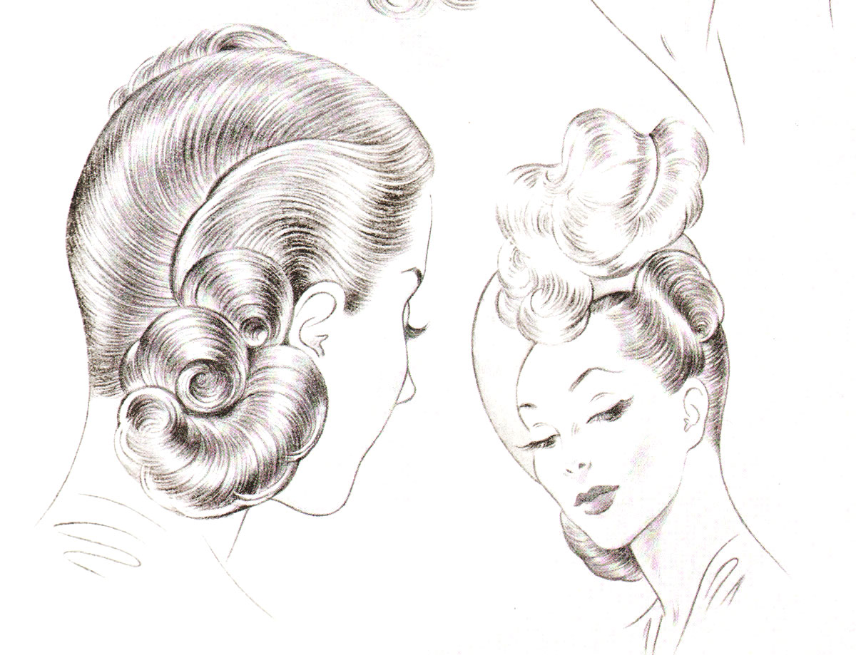 1940s Hairstyles – The Sidesweep Craze of 1945 | Glamourdaze
