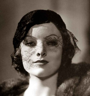 Myrna-Loy---hat-veil---1930s