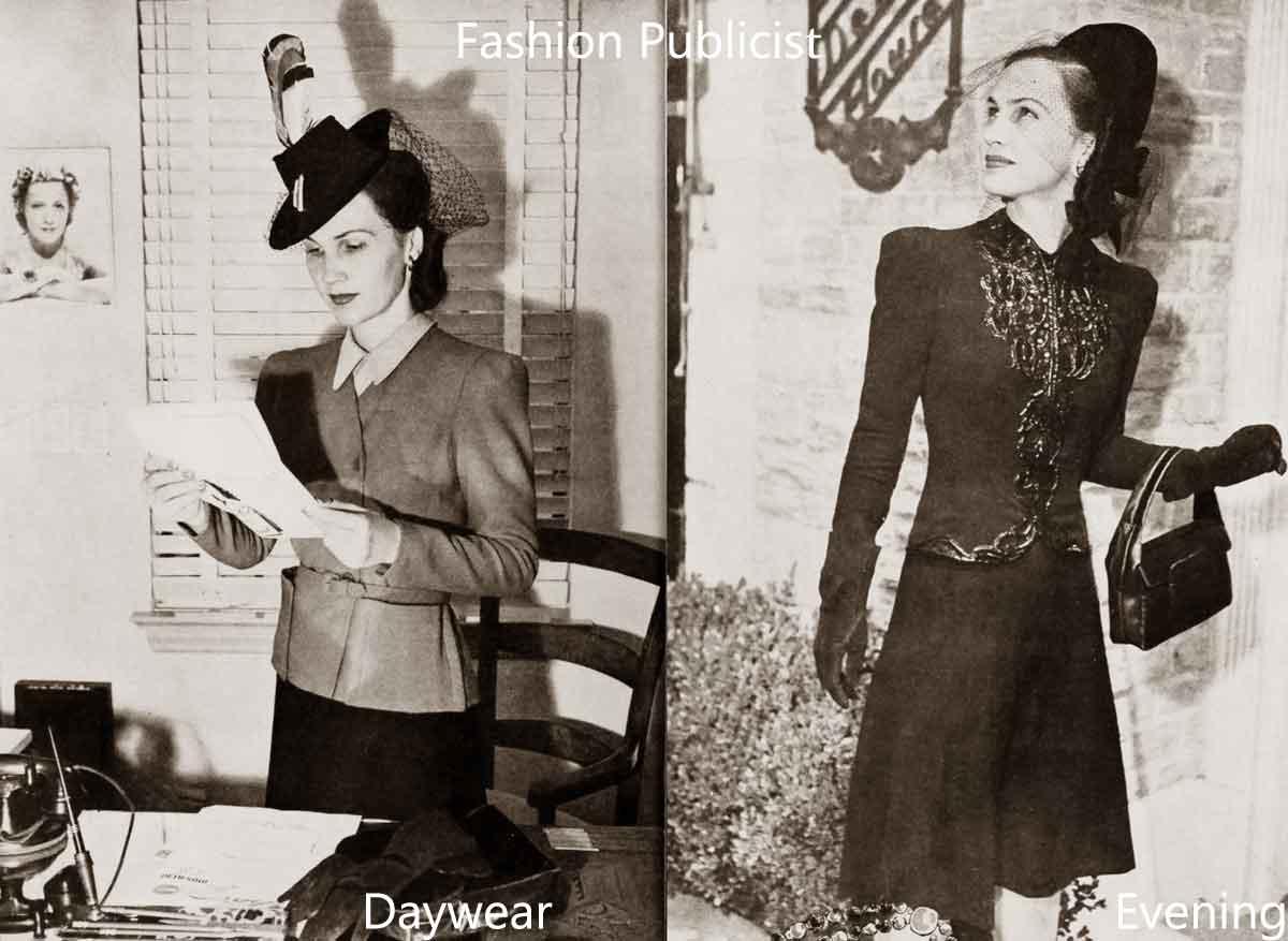 1940s Fashion White Collar Girls Glamour Daze