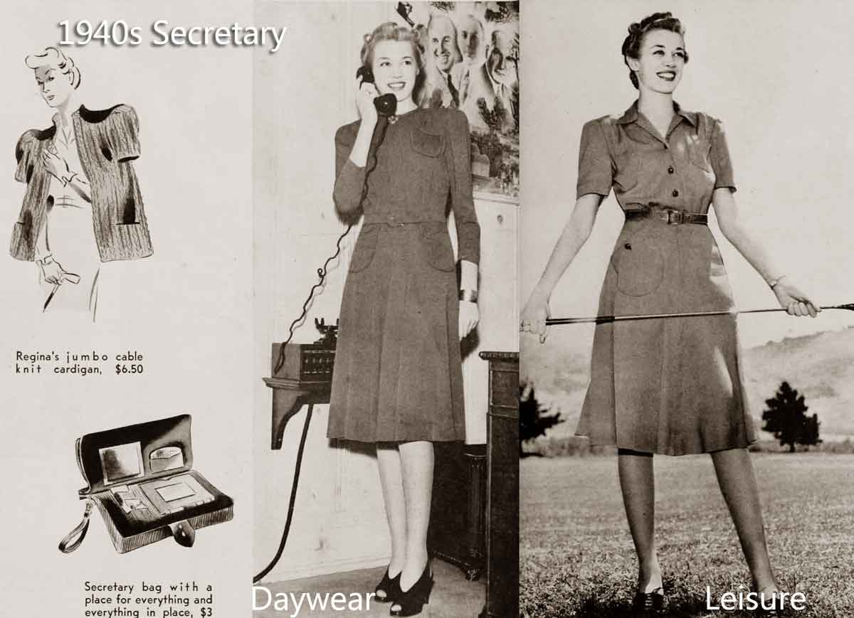 1940s fashion   white collar girls glamour daze