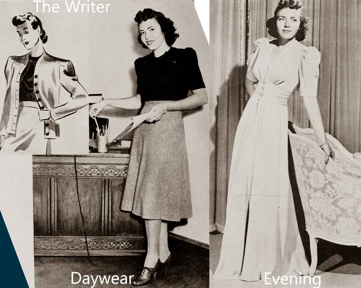 1940s Fashion - White Collar Girls | Glamour Daze