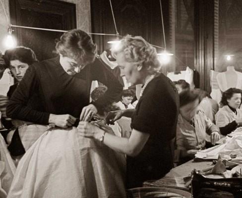Model-Bettina-Graziani-at-Givenchy-show-1952