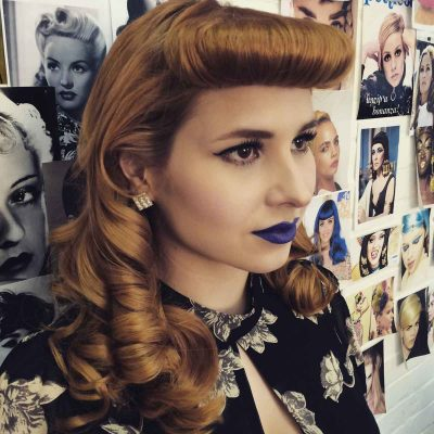 Stunning-hair-look-from-our-modern-vintage-hair-workshop-by-Katie Campbell